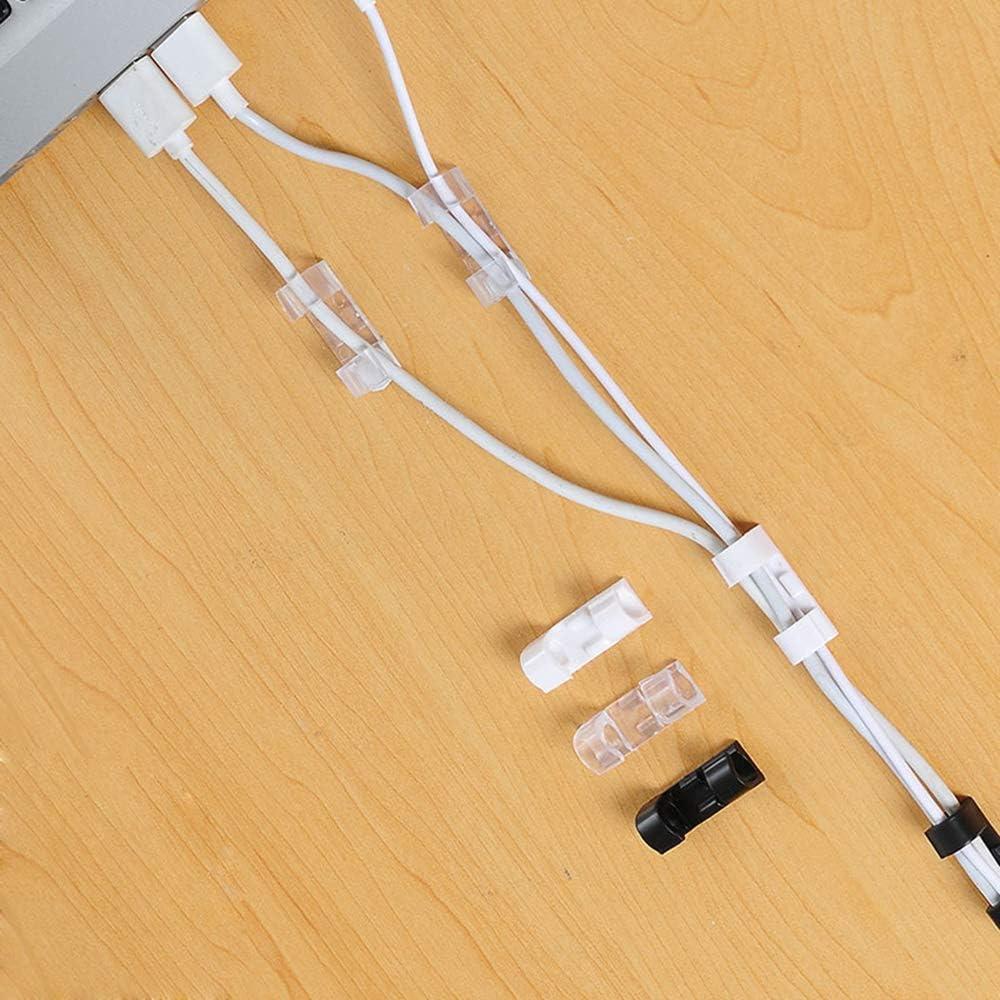 95sCloud 4St/ück Kabelclips Selbstklebende Kabelklemmen Kabelhalter Gesicherte Unterlage USB Ladekabel und Audiokabel f/ür Auto Kabelklemme Set f/ür Schreibtisch B/üro und Zuhause Netzkabel