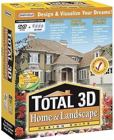 Amazon Com Individual Total 3d Home Landscape Design Suite 8