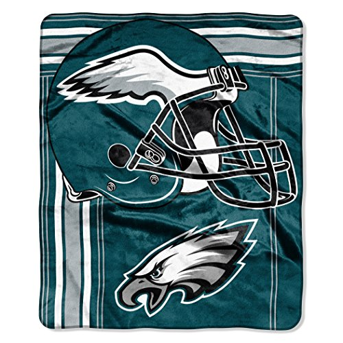 The Northwest Company NFL Philadelphia Eagles Touchback Plush Raschel Throw, 50
