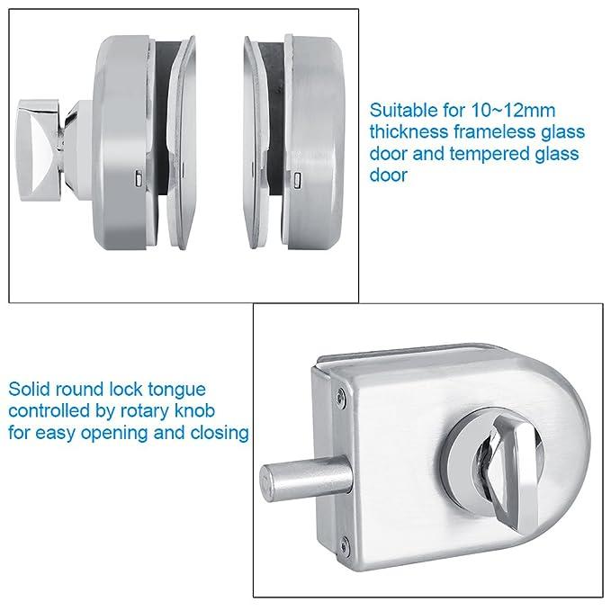 Cerradura de seguridad, Cerradura de puerta de cristal unilateral abierta solo del semicírculo de 10~12m m con las llaves Abra/cierre el uso casero ...
