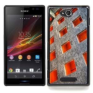 Architecture Square Order Deep Caja protectora de pl??stico duro Dise?¡Àado King Case For Sony Xperia C S39h C2305