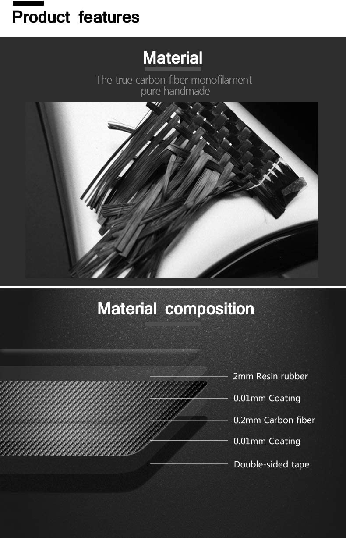 GZXinWei Carbon Fiber Car Styling Sticker Decals Central Control Panel Interior,Black