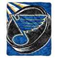 NHL Bedroom NHL Puck 50-inch by 60-inch Sherpa on Sherpa Throw Blanket