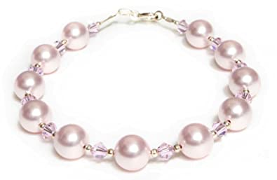 Goldmajor Sterling Silver, Pink Rose Quartz and Pink Freshwater Pearls Bracelet of 19.5cm with 3.5cm Extender