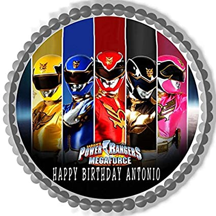 Home, Furniture & DIY Power Rangers 7.5 Inch Round Edible Cake Topper Decoration and 8 cupcake toppers
