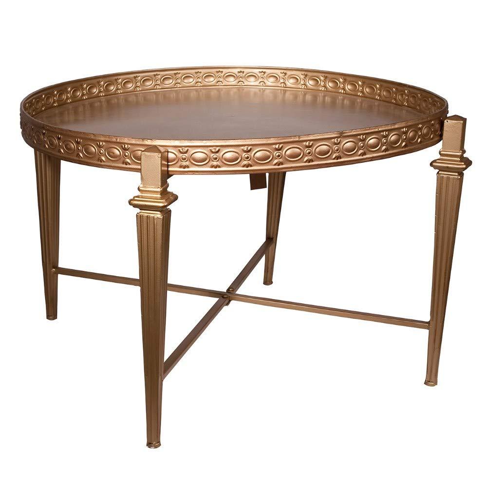 Benjara, Gold Benzara BM149562 Metal Cocktail Table by Benjara