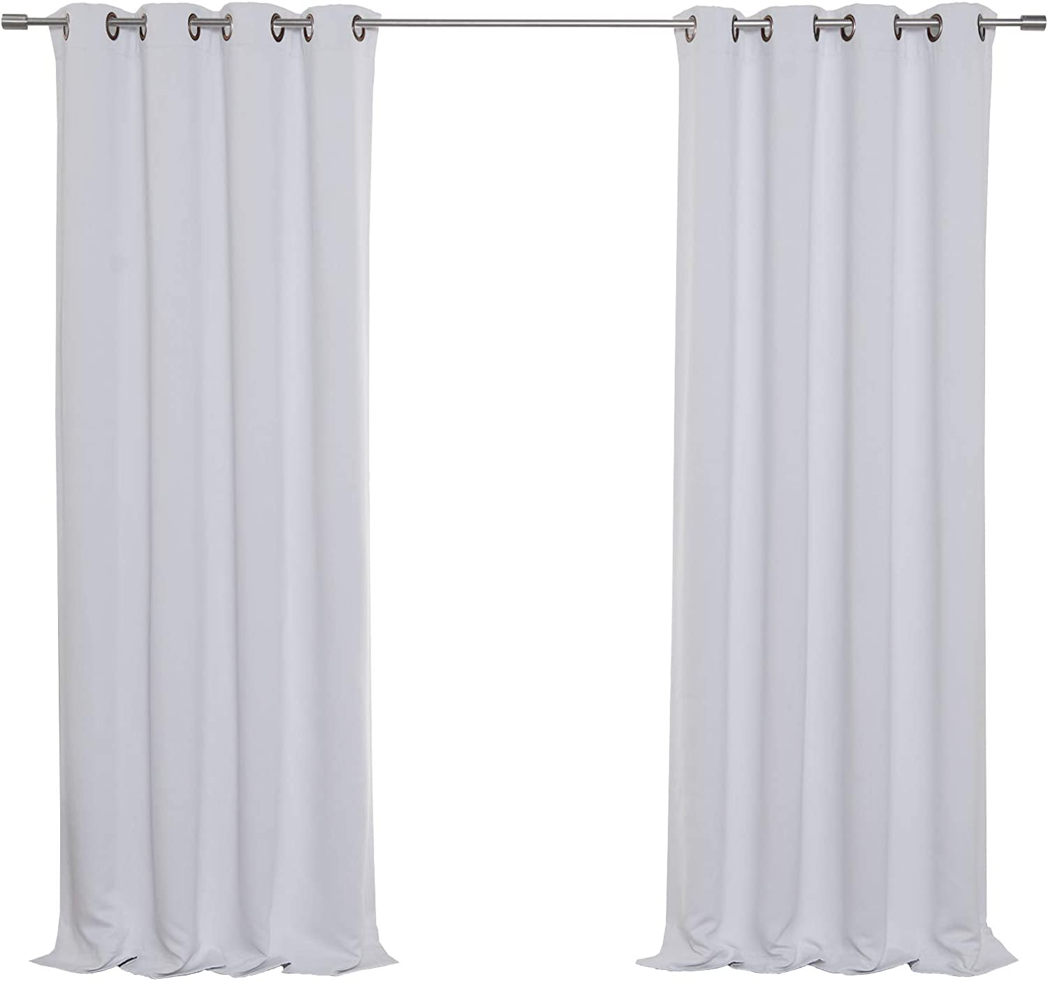 "Best Home Fashion Thermal Insulated Blackout Curtains - Antique Bronze Grommet Top - Vapor - 52"" W x 84"" L - (Set of 2 Panels)"