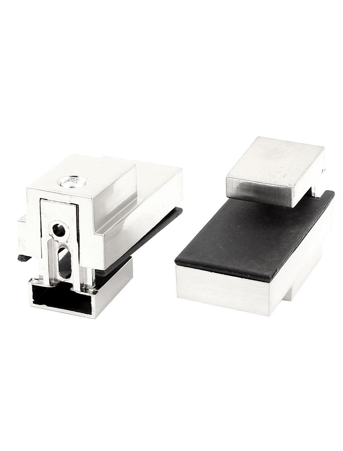 4 milímetros-15mm de espessura cetim níquel de vidro ajustável 2pcs prateleira Clipe Braçadeira