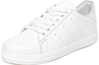 087f8c868ea AlexaStar Shoes for Women Girls Casual White Canvas Sneakers Stylish  Buy  Online at Low Prices in India - Amazon.in