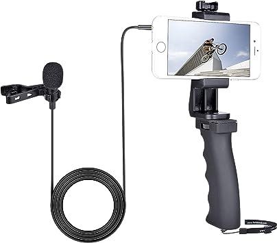 Kit de vídeo para smartphone con micrófono Lavalier, soporte de ...