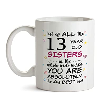 13th Sister Birthday Gift Mug