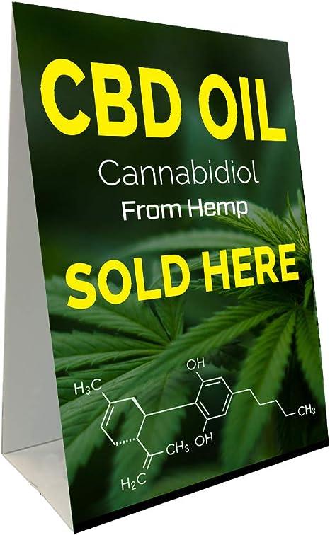 Amazon.com: CBD - Cartel de aceite con marco en forma de A ...