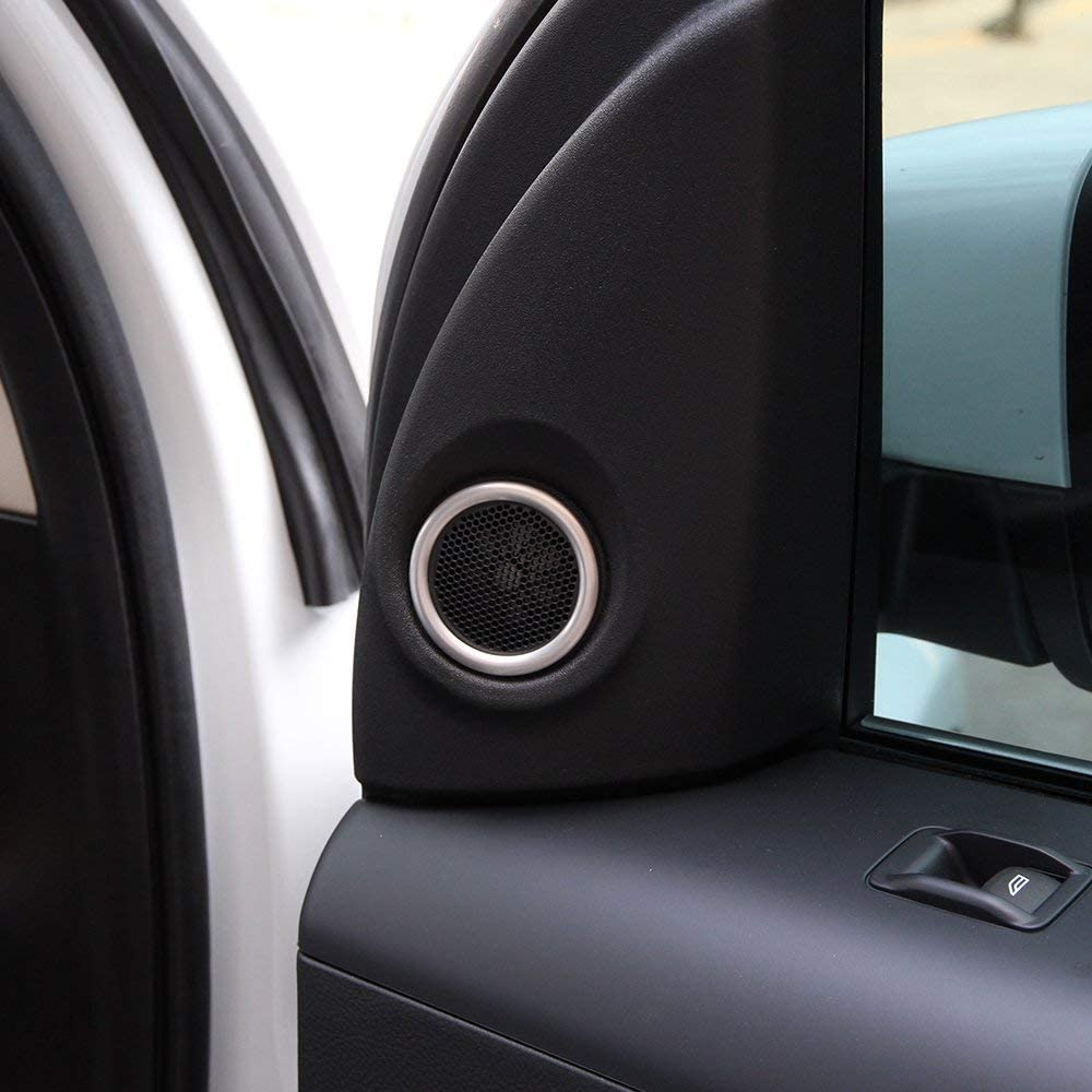 for Land Rover Freelander 2 2007-2016 Stainless Steel Car Tweeter Door Speaker Cover Ring Trim