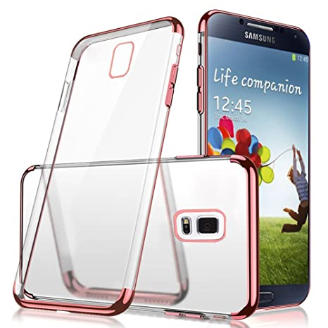 97953354371 Funda Samsung Galaxy S5, Vandot Enchapado Bumper Ultra Slim Hybrid  Transparente Ultra Fina Suave TPU