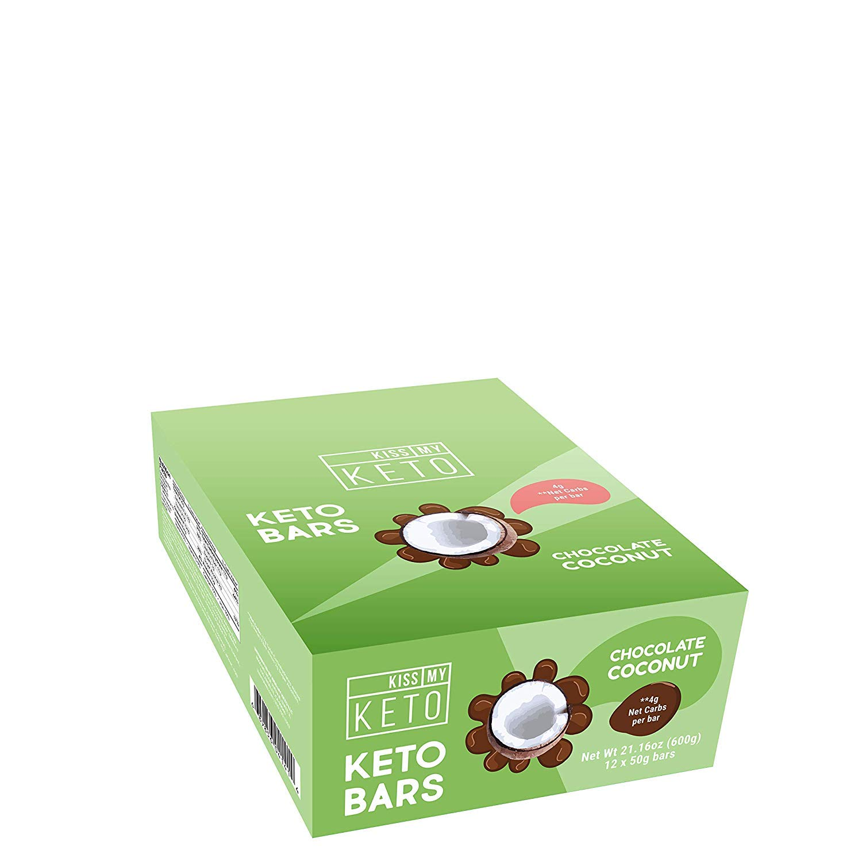 Kiss My Keto Snacks Keto Bars - Keto Chocolate Coconut, Nutritional Keto Food Bars, Paleo, Low Carb/Glycemic Keto Friendly Foods, All Natural On-The-Go Snacks, Quality Fat Bars, 4g Net Carbs by Kiss My Keto (Image #3)