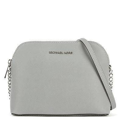 e0b0db1c2119 Michael Kors Cindy Leather Large Dome Crossbody Dove: Handbags ...