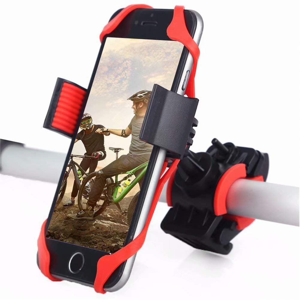 DIGIC Bike Mount, Universal Anti-Shake 360 Rotation Silicone Bicycle Phone Mount Holder Motorcycle Handlebar Mount for iPhone Samsung Huawei GPS Other Devices