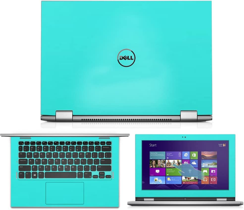 Mint Green Skin Decal wrap Skin Case for Dell Inspiron 11 3000 Series 2 in 1 3147 11.6