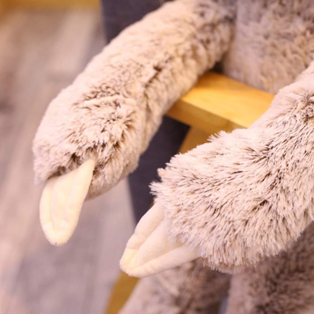 Committede Kuscheltier Faultier Sitzend Grau Pl/üschfaultier Pl/üschtier Kuschel Kissen Pl/üsch Tier Deko Dekokissen Kuschelig Flauschig Pl/üschtier Spielzeug Geschenke Sofa Dekoration