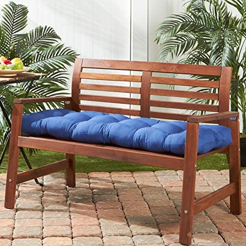 51-inch Outdoor Marine Blue Bench Cushion Solid Modern Contemporary Transitional Polyester Fade Resistant Uv Water