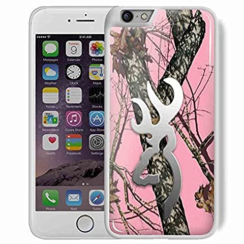 Hoomin Pink Realtree Camo Browning Oak Pink for Iphone and Samsung Galaxy Case (iphone 6 plus (Browning Cell Phone Cases)