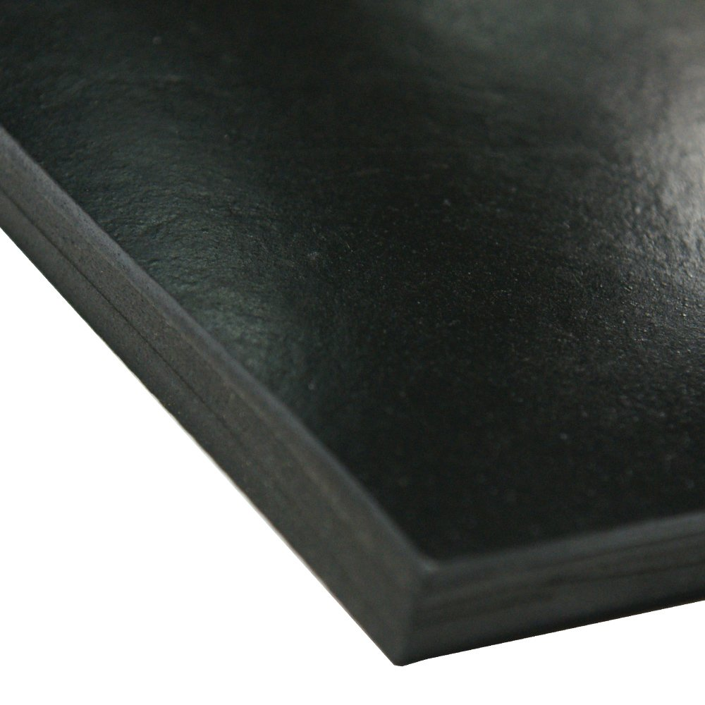 Neoprene Sheet, 50A Durometer, Smooth Finish, No Backing, Black, 0.032'' Thickness, 36'' Width, 60'' Length