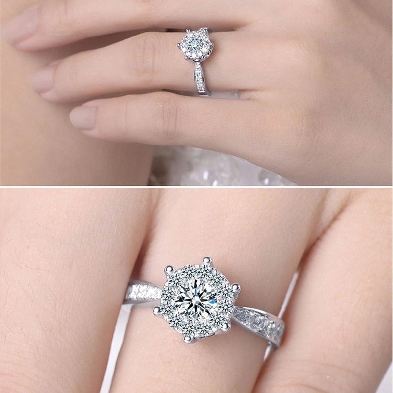 Amazon.com: Idlespace Women\'s Romantic Diamond Jewelry Wedding Ring ...