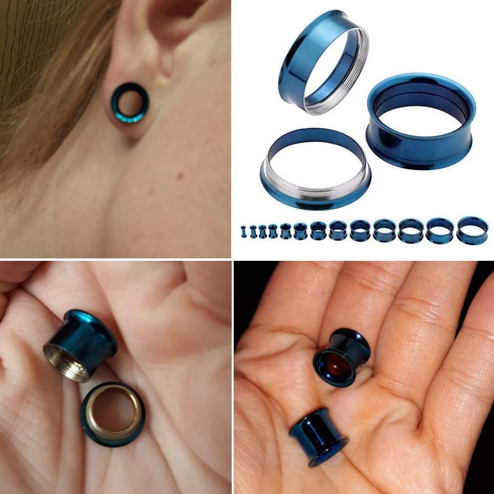 MissDaisy 8 Pairs Acrylic Ear Plugs Expander Double Flared Body Piercing Assorted Style