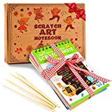Arts & Crafts : aGreatLife Rainbow Scratch Art Notebooks: Best Scratch Rainbow Notes - Drawing Notepads For Kids with 4 Colorful Mini Notebooks and 4 Wooden Styluses
