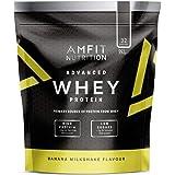 Amazon Brand- Amfit Nutrition - Advanced Whey Protein Powder Banana Milkshake, 32 Servings, 992g