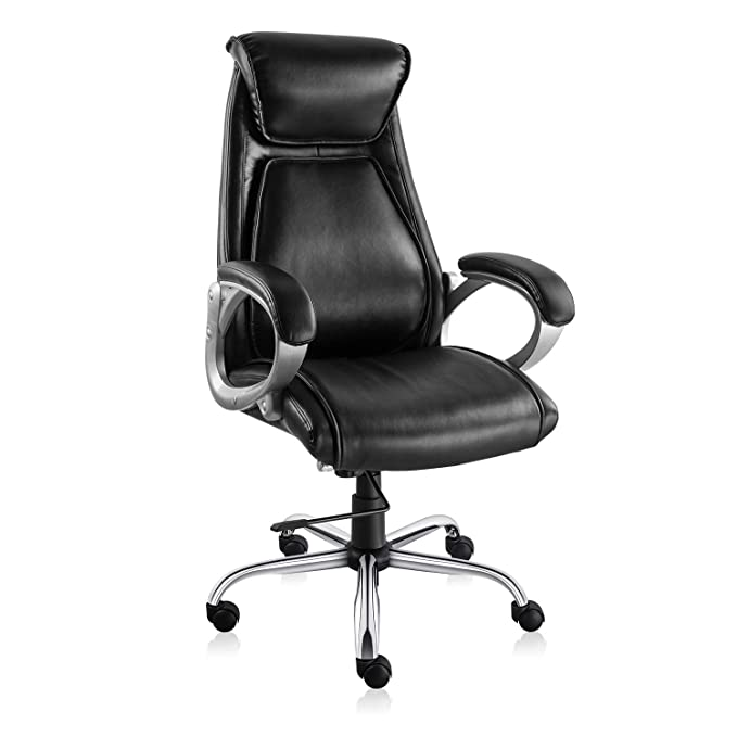 SMUGDESK Executive Office Chair High Back Desk Task Chair Ergonomic Computer Chair with Tilt and Lock Mechanism (Black)