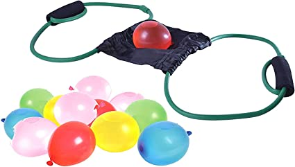 2 Pieces 3 Person Water Balloon Launcher Cannon Slingshot Summer Outdoor Toy
