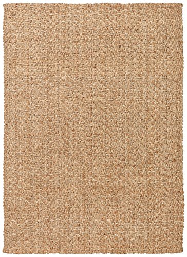 Stone & Beam Contemporary Textured Jute Rug, 8' x 10', Natural