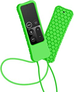 Sahiyeah Compatible for Apple TV Remote Case Light Weight Anti Slip Waterproof Shockproof Silicone Protective Case Cover for Apple TV 4K / 4th Gen Remote Controller,Green