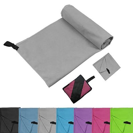 Glamexx24 Toallas de microfibra con toalla de viaje de bolsillo toalla deportiva perfecta Toalla de playa