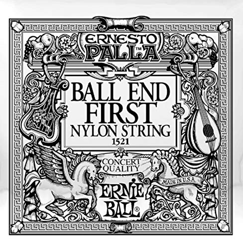 Ernie Ball 1521 Black 1st Ernesto Palla Nylon Ball End Classical Guitar String - SINGLE STRING