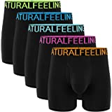 Natural Feelings Mens Boxer Shorts Cotton Trunks Breathable Mens Underwear Boxer Briefs