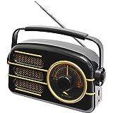 Sytech SYRET30 - Radio AC/DC, color negro y dorado