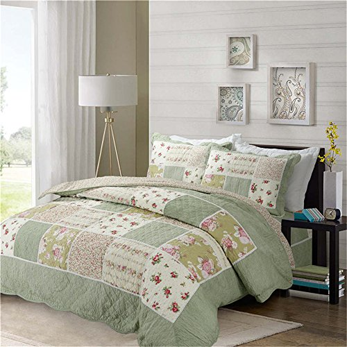QAZSDF Cotton American Patchwork Quilting Air Conditioner is Three-Piece Office Bedroom Outdoor Hotel Home Indoor Cab (Size : A230250CM)