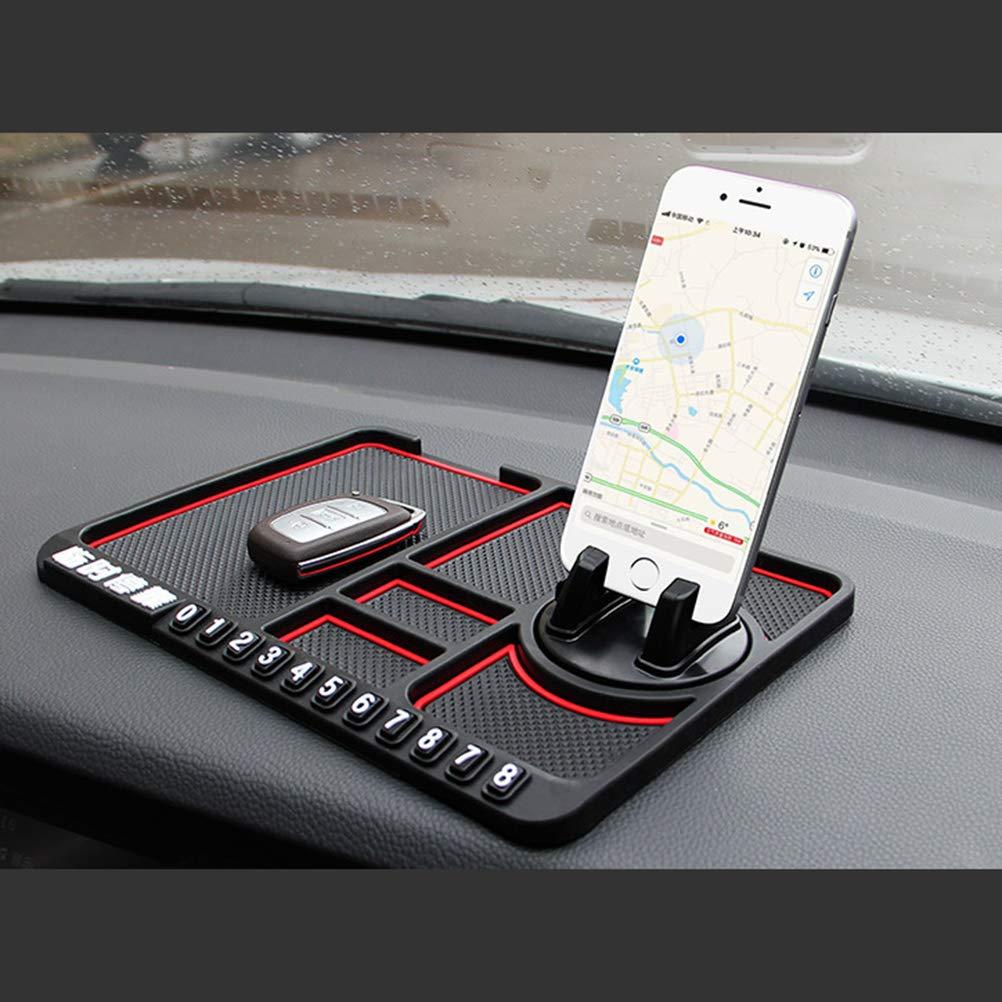 Hihey Multifunktionale Auto Armaturenbrett Klebrige Auto Pad Matte Rutschfeste Fahrzeug Handyhalter Matte