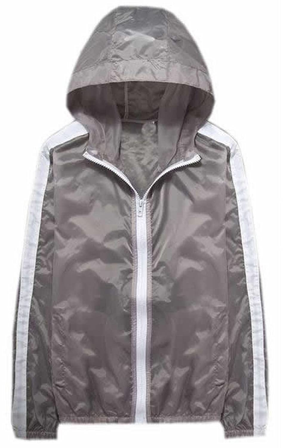 XQS Womens Breathable Sun Protection Hooded Outdoor Coats