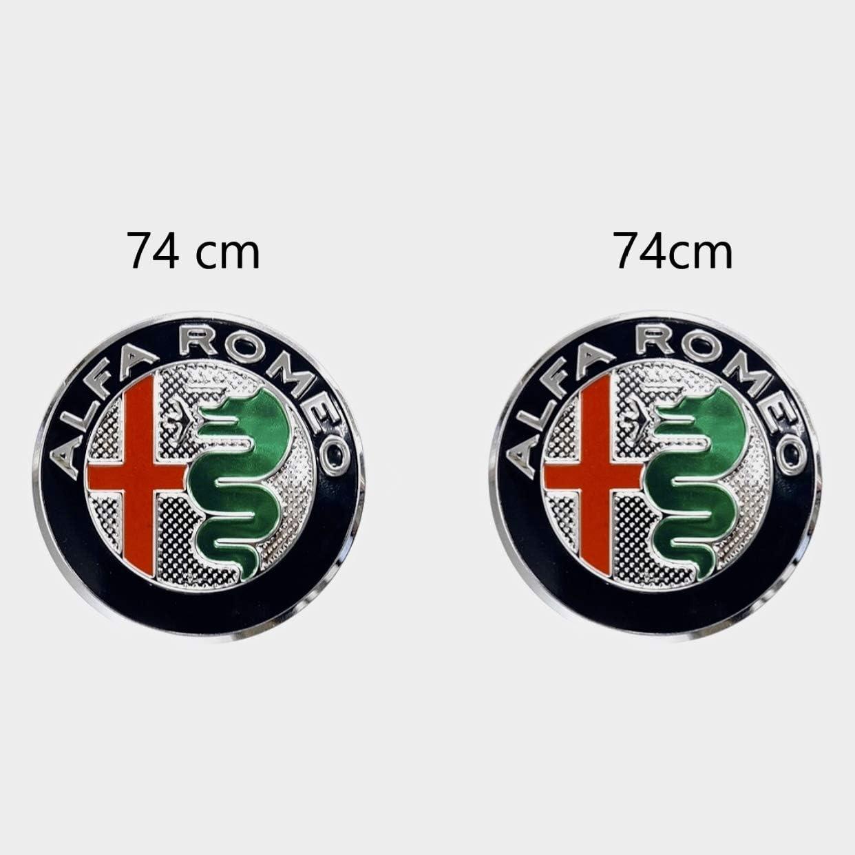 Emblem Set Für Capo Und Kofferraum 74 Mm Silberabzeichen 2 Stück Auto