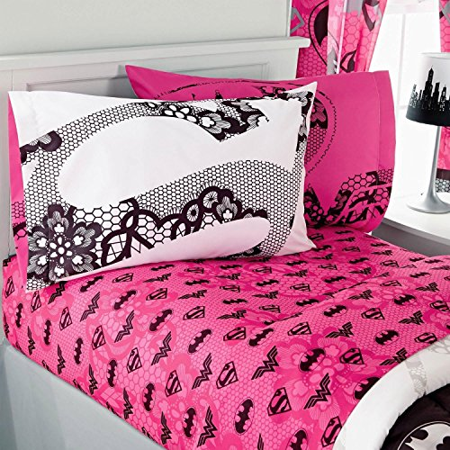 Justice League Sheet Set In Pink Design