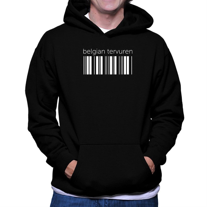 Belgian Tervuren barcode Hoodie