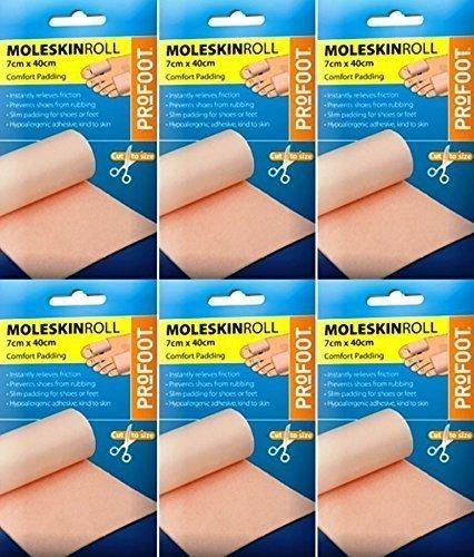 Profoot Moleskin Roll 7cm x 40cm x 6 Packs by Profoot