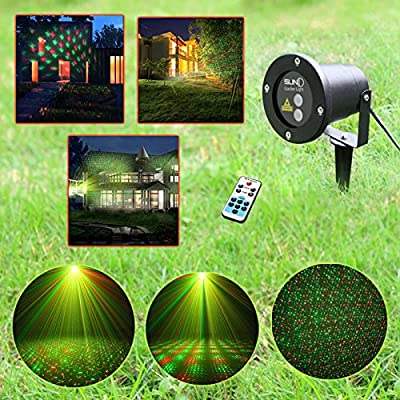 Dynamic Christmas Light 12 in 1, Decorative Pool/lawn/garden/tree Laser Landscape Projector Light w/ Remote, Laser Illuminating Landscaping