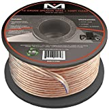 Mediabridge 16AWG Speaker Wire (100 Feet) - Spooled Design with Sequential Foot Markings - (Part# SW-16X2-100-CL )