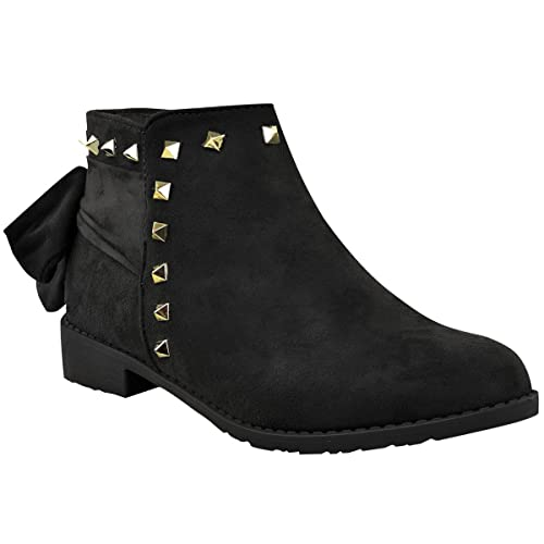 d7d6ccdabac Amazon.com | Fashion Thirsty Womens Chelsea Ankle Boots Stud Ruched ...