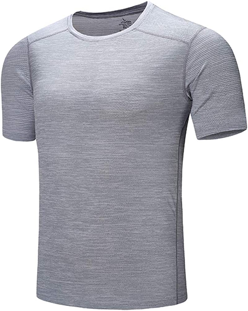 DZRZVD Men's Short Sleeve T Shirt Casual Active Running Sport Fast Cool Dry Athletic Shirt Stripe