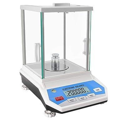 Bonvoisina 0.001g Balanza Analítica Electrónica de Alta Precisión 1mg Precisión Balanza Analítica Digital Escala de Laboratorio con Pantalla LCD Escala Científica de Alta Precisión (100g, 0.001g): Amazon.es: Industria, empresas y ciencia